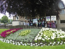 suffrage flower bed
