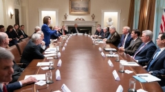 Nancy Pelosi confronts Donald Trump at the White House