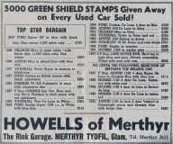 Green Shield stamps for cars