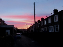 Red sky clouds 230420