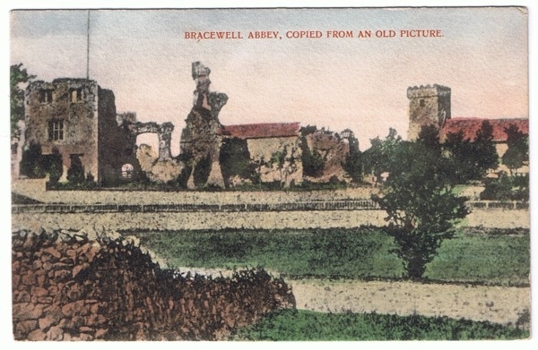 Bracewell Abbey postcard