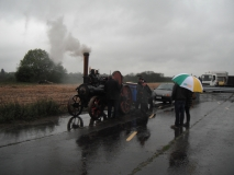 SteamTractionEngineInAprilShowers