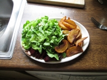 Salad with hot chips