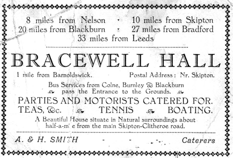 Bracewell Hall advert